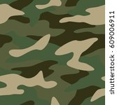 camouflage pattern background... | Shutterstock .eps vector #609006911