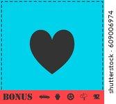 heart icon flat. simple vector...