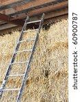 ladder against straw | Shutterstock . vector #60900787