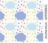 hand drawn pattern background... | Shutterstock . vector #609008831