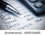 household expenses concept.... | Shutterstock . vector #609016685