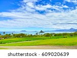 kaneohe bay seen from the... | Shutterstock . vector #609020639