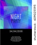 vertical night party background ... | Shutterstock .eps vector #609025595