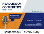 business conference invitation... | Shutterstock .eps vector #609027689