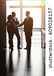 the image of a business team... | Shutterstock . vector #609028157