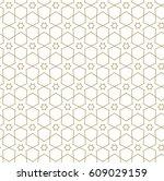 vector geometric seamless... | Shutterstock .eps vector #609029159