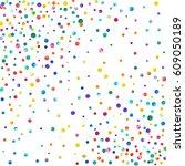 dense watercolor confetti on... | Shutterstock . vector #609050189