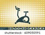 exercise bike icon  vector...