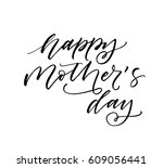 happy mother's day postcard.... | Shutterstock .eps vector #609056441