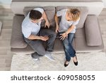 overhead view of a couple...   Shutterstock . vector #609058055