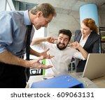 mobbing  stress  work  scandal... | Shutterstock . vector #609063131