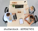 group of business people... | Shutterstock . vector #609067451