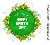 international earth day poster... | Shutterstock .eps vector #609073919