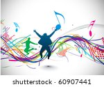 Abstract Music Notes Design Fo...