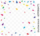many falling colorful tiny... | Shutterstock .eps vector #609086471