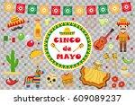 cinco de mayo celebration in... | Shutterstock .eps vector #609089237