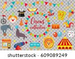 circus collection  flat ... | Shutterstock .eps vector #609089249