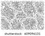 vector hand drawn doodle... | Shutterstock .eps vector #609096131