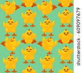 vector seamless pattern of... | Shutterstock .eps vector #609097679