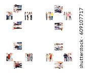 together we stand office...   Shutterstock . vector #609107717