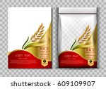rice package thailand food logo ... | Shutterstock .eps vector #609109907