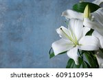 Beautiful White Lilies On...