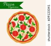 pizza vector illustration....   Shutterstock .eps vector #609123341