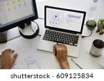 upload is a file transfer to...   Shutterstock . vector #609125834