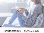 woman is relaxing on...   Shutterstock . vector #609126131