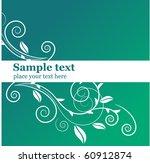 floral ornate background | Shutterstock .eps vector #60912874