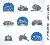 house set.vector | Shutterstock .eps vector #609131801