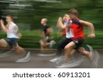 group of young runners in... | Shutterstock . vector #60913201