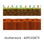 cross section ground slice... | Shutterstock .eps vector #609132875