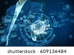 technology in business hand | Shutterstock . vector #609136484