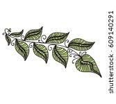 beautiful branch. vector... | Shutterstock .eps vector #609140291