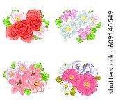 flower set | Shutterstock . vector #609140549