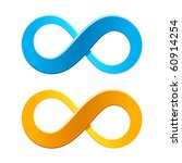 infinity symbol. vector.   Shutterstock .eps vector #60914254