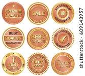 set of business banner in... | Shutterstock .eps vector #609143957