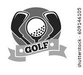 golf club logo template or... | Shutterstock .eps vector #609146105