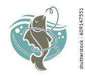 fishing time logo template....   Shutterstock .eps vector #609147551