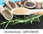 spices and herbs  spice  herb   | Shutterstock . vector #609158435