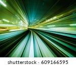 Train Moving Through Future...