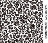 chintz seamless pattern | Shutterstock .eps vector #609180191