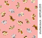 Stock vector dog illustration pattern 609181205