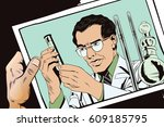 stock illustration. people in... | Shutterstock .eps vector #609185795