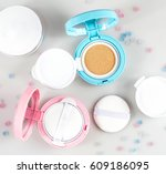 foundation cushion pink and...   Shutterstock . vector #609186095
