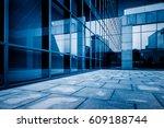 city empty plaza in financial... | Shutterstock . vector #609188744