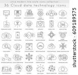cloud data technology ultra... | Shutterstock . vector #609189575
