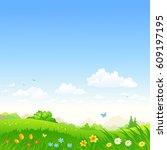 vector cartoon illustration of... | Shutterstock .eps vector #609197195