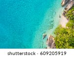 aerial photo of beautiful... | Shutterstock . vector #609205919